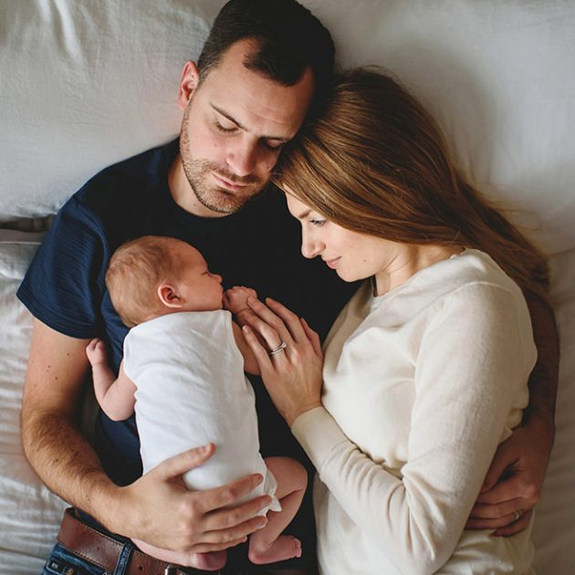 Father, Mother and baby photo